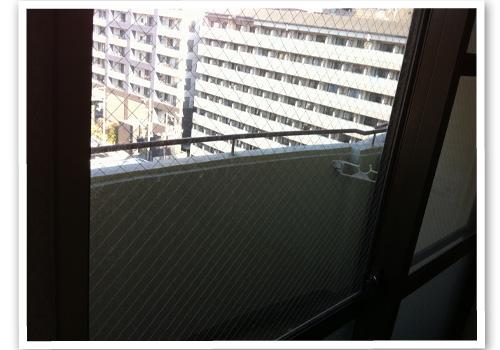 窓ガラス ハウスクリーニング前