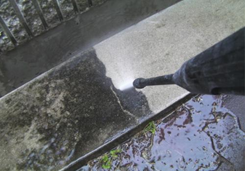 外壁洗前後