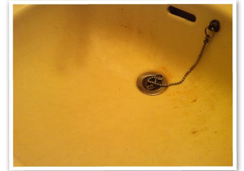 洗面台 ハウスクリーニング前